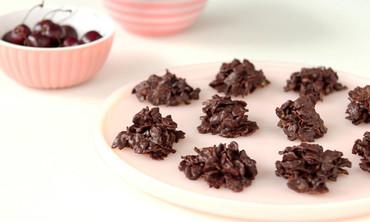 Chocolate Cherry Dessert Clusters