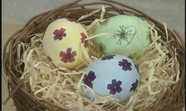 Fresh Flower Decorated Egg Shells