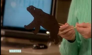 Handmade Polar Bear Shadow Puppet