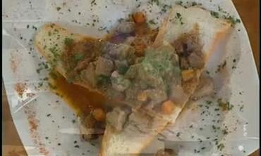Herb Tart and Lamb Vegetable Stew