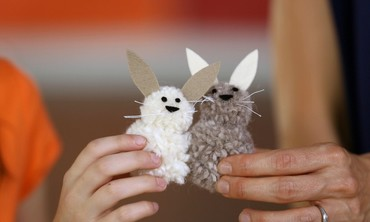 How To Make a Pom Pom Bunny Craft
