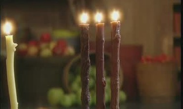 How to Make Faux Bois Wax Candles