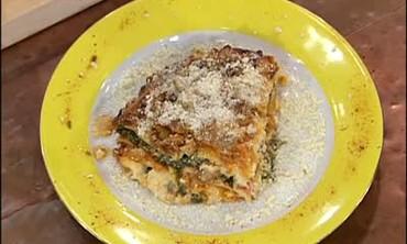 Lasagna with an Ice Cream Dessert