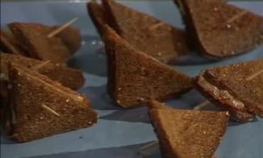 Mini Pumpernickel Grilled Cheeses