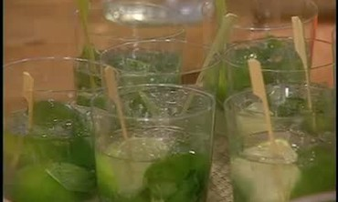 Mojito with Limes and Mint Leaves
