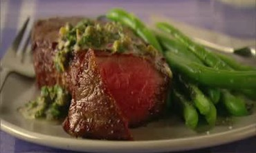 Pan-Seared Steak with Salsa Verde