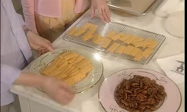 Pecans on Fire and Cheese Ribbons