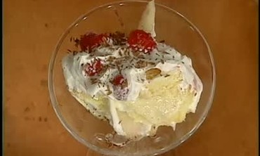 Poached Pear and Raspberry Trifle