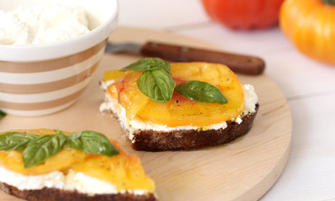 Ricotta and Heirloom Tomato Toast