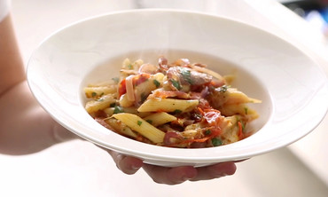 Roasted Tomato and Pancetta Penne