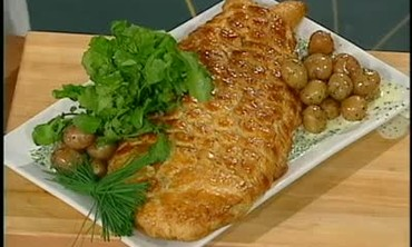 Salmon with Champagne Chive Sauce