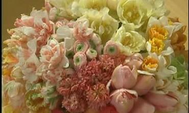Square Vase Four Quadrant Bouquet