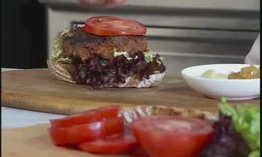 Turkey Burgers with Mango Chutney