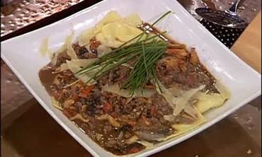 Veal Stew over Mascarpone Ravioli