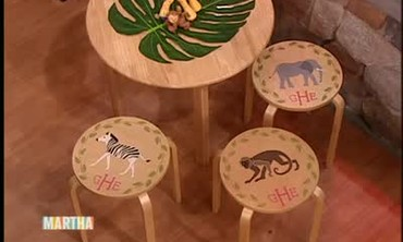 Animal Stencil Stool Seats with Elisabeth Hasselbeck