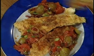 Baked Flounder Stuffed with Shrimp
