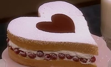 Baking a Heart-Shaped Genoise Cake