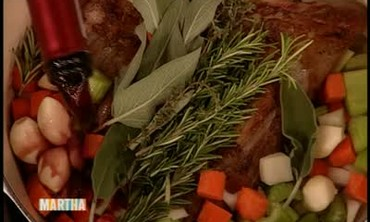Braised Lamb Shanks and Vegetables