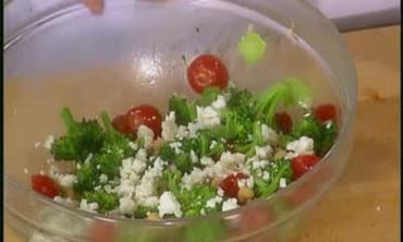 Broccoli, Chickpea and Tomato Salad