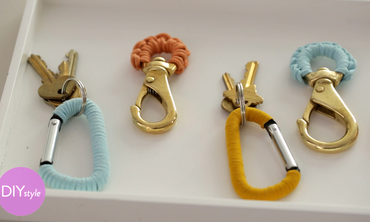 Colorful Leather-Wrapped Keychains