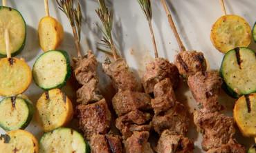 Curry Yogurt Marinated Lamb Kebabs