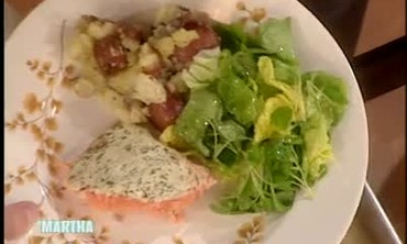 Dill Topped Salmon for Mothers Day