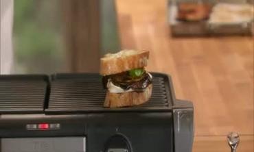 Eggplant and Mozzarella Sandwiches