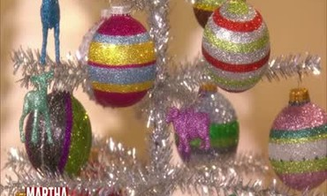 Glittered Christmas Tree Ornaments