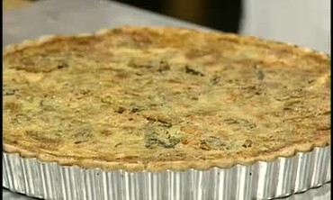 Grilled Vegetables and Custard Pie