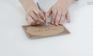 Hand Lettering with Martha Stewart