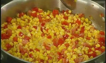 How to Make Spicy Corn and Peppers