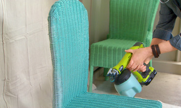 How To Spray Paint Wicker Chairs