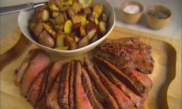 London Broil with Crispy Potatoes.