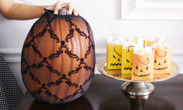 Martha Stewart's Halloween Entryway