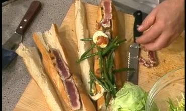 Nicoise Sandwich with Grilled Tuna