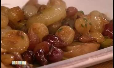 Pan-Roasted Pearl Onions and Leeks