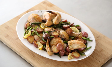 Pan Roasted Chicken with Asparagus