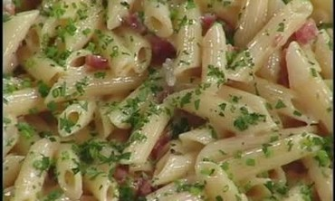 Penne Pasta with Four Cheese Sauce