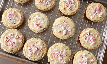 Peppermint-Chocolate Sugar Cookies