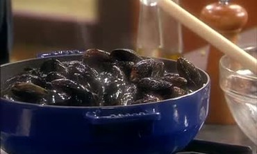 Steamed Mussels and Creamy Polenta