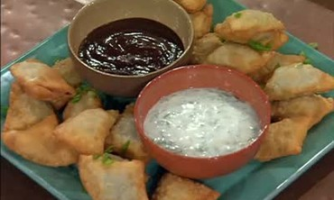 Vegetable Samosas and Chicken Soup