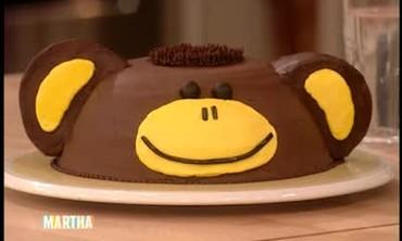 Banana Cake Decorated Like a Monkey