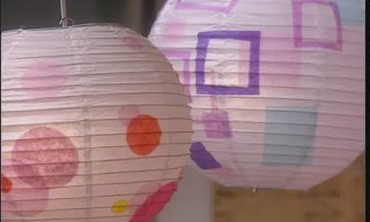Decorated Paper Lanterns with Paint