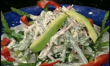 Emeril Makes Asparagus Turkey Salad