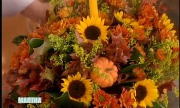 Fall Flower Centerpiece Arrangement