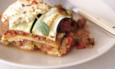 Lighter Lasagna with Zucchini Strips