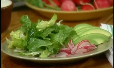 Quick Escarole Avocado Radish Salad