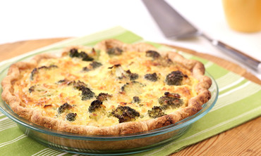 Brunch-Ready Broccoli Cheddar Quiche