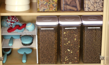 Dedicate a Cabinet to Pet Supplies