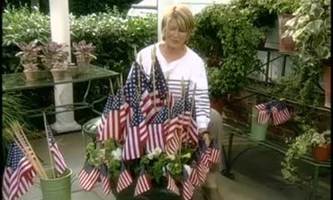 Flag Planters for the Fourth of July